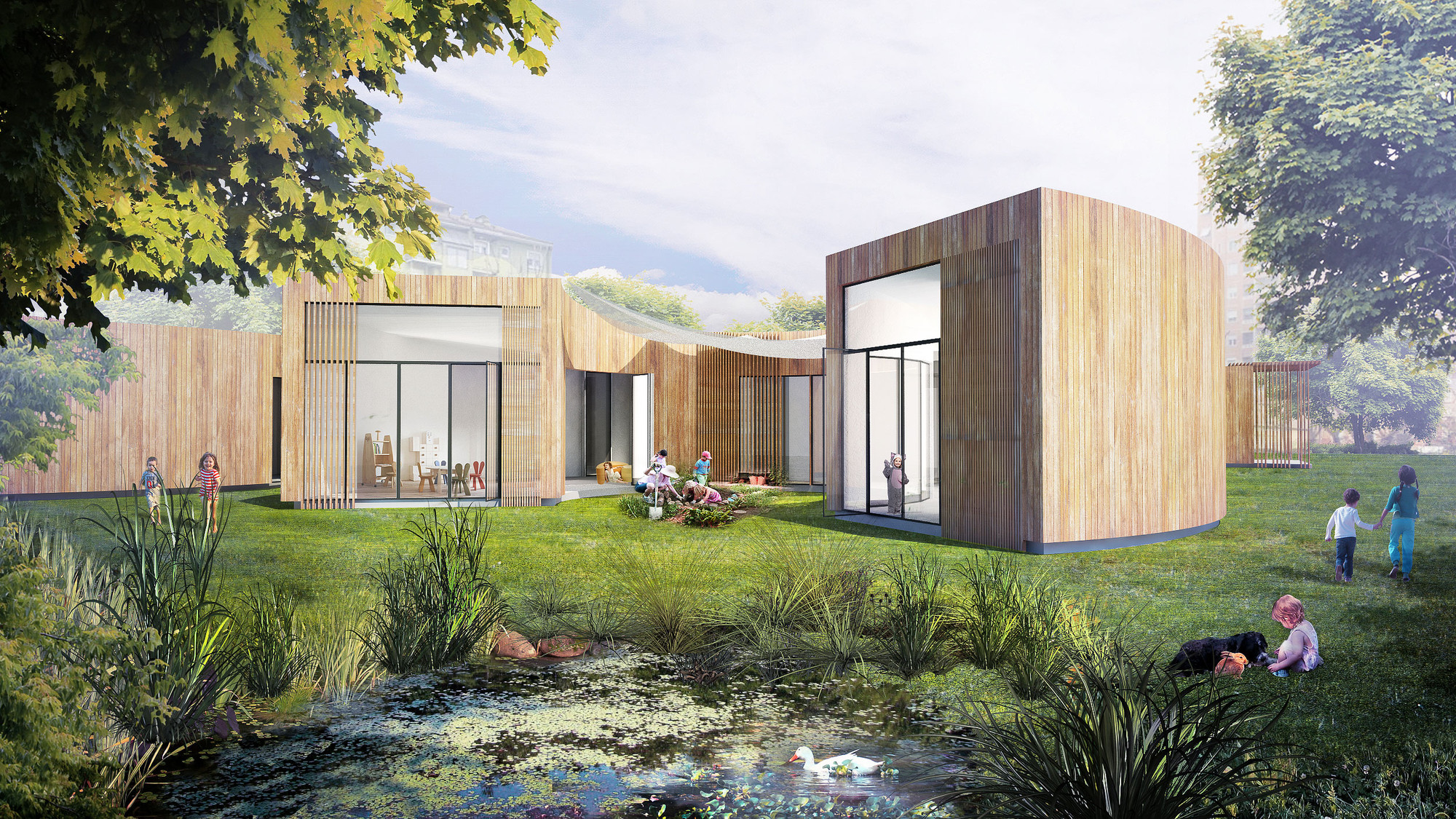 Instant House School Winning Proposal B Architecture