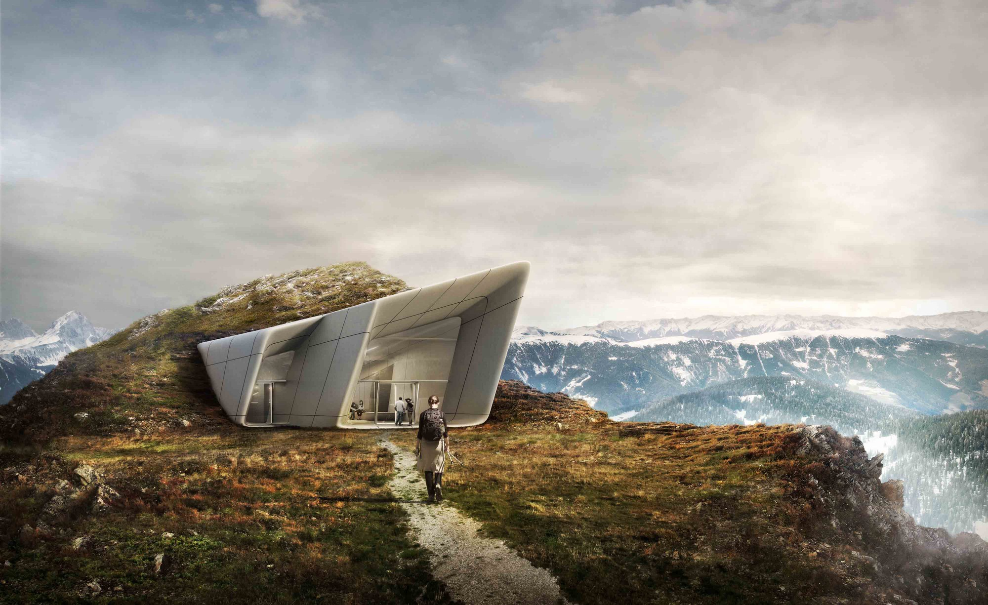 Messner Mountain Museum Plan De Corones Proposal Zaha Hadid Architects Archdaily