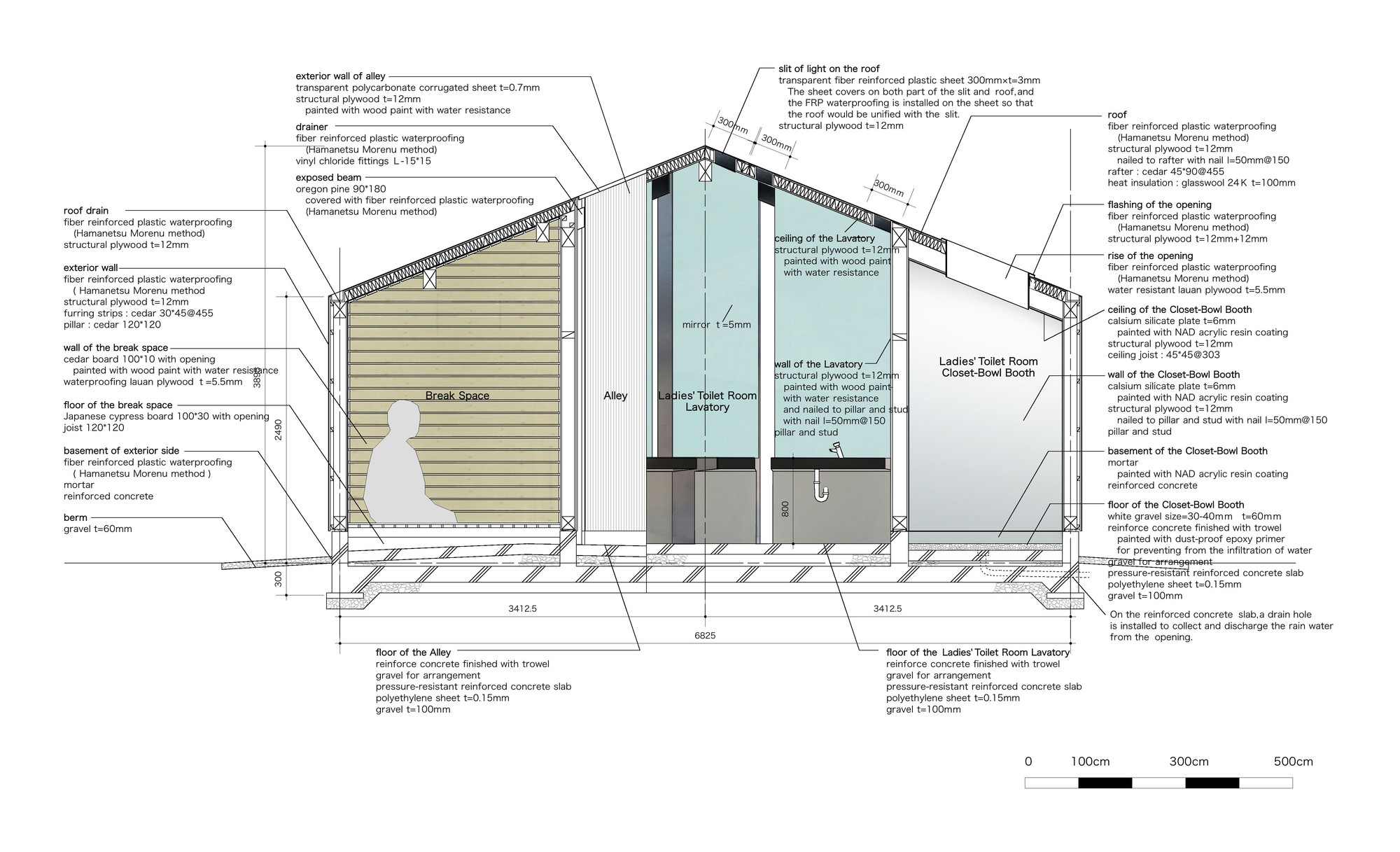 small resolution of house of toilet daigo ishii future scape architects detail diagram