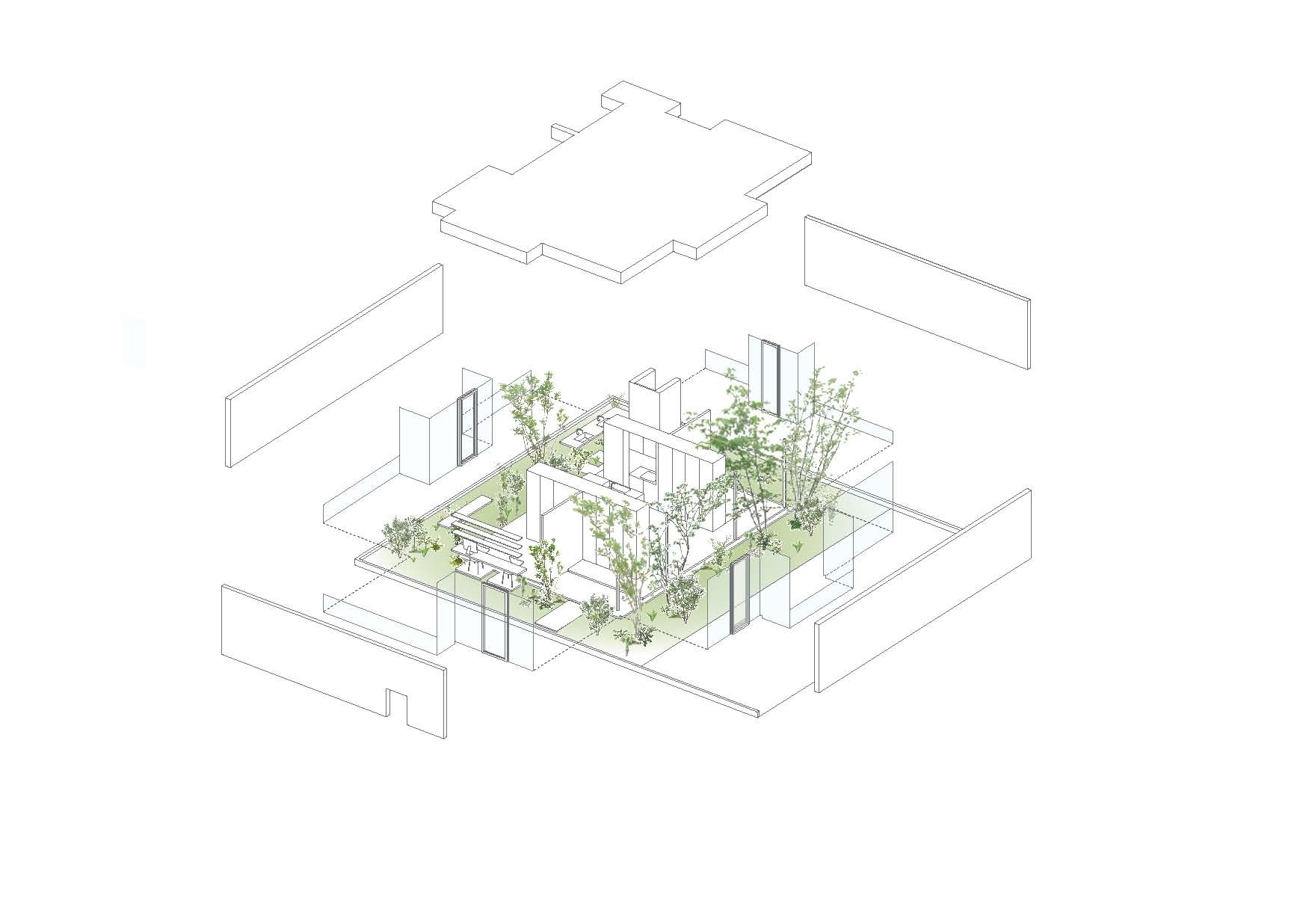 exploded axon diagram plant cell vs animal gallery of green edge house ma style architects 15