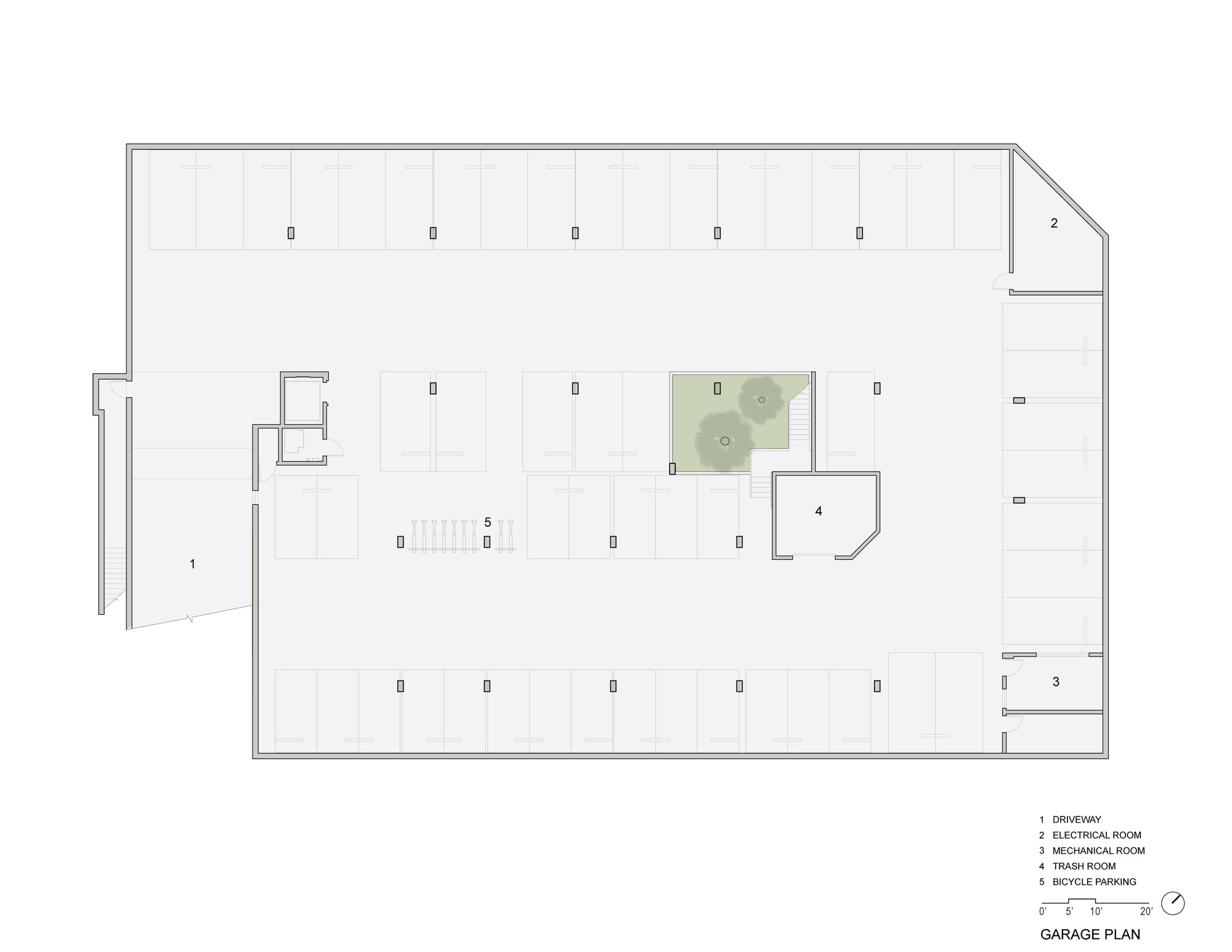 hight resolution of pico place brooks scarpa architects garage floor plan