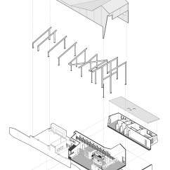 Simple Exploded View Diagram Dissecting Microscope Gallery Of Round Mountain House Demx Architecture 25
