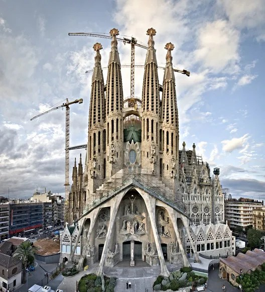 La Sagrada Familia's passion facade. Image © Expiatory Temple of the Sagrada Família