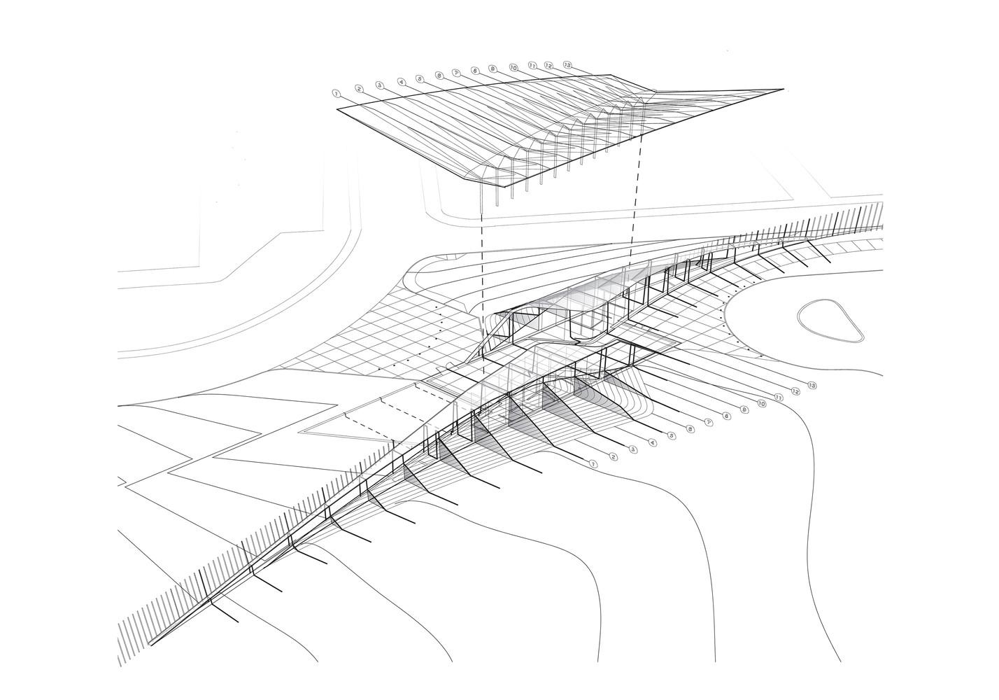 novartis campus weiss manfredi novartis visitor reception serial section diagram [ 1428 x 1000 Pixel ]