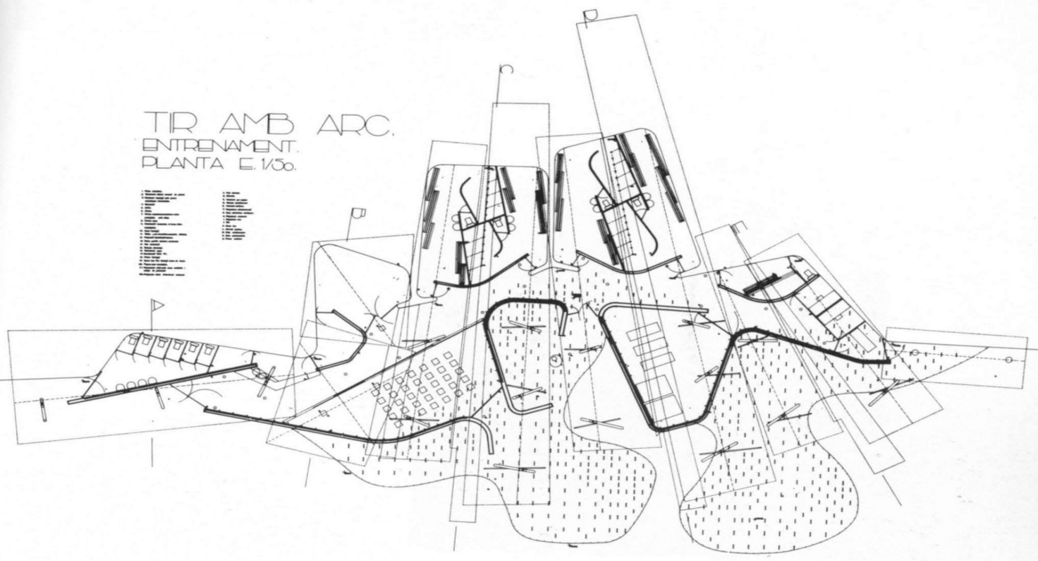 small resolution of ad classics olympic archery range enric miralles carme pinos