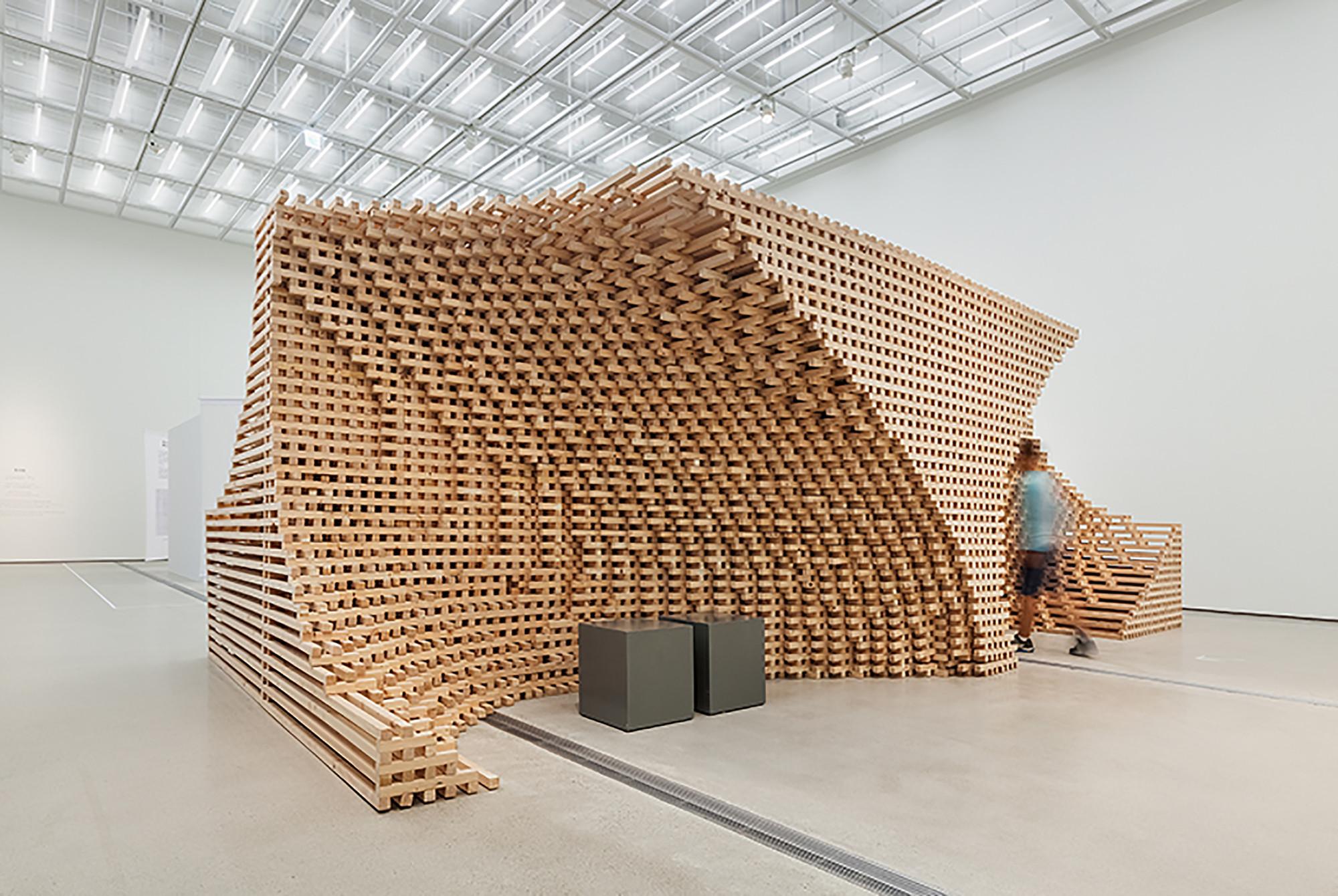 Modern Wood Sculpture Art