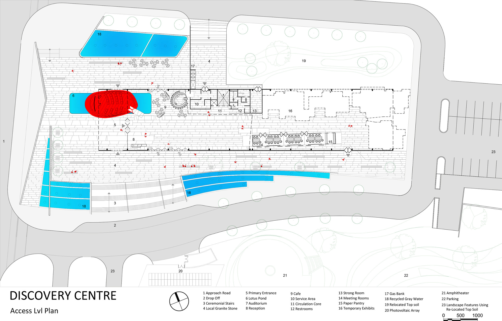 hight resolution of discovery centre site plan diagram