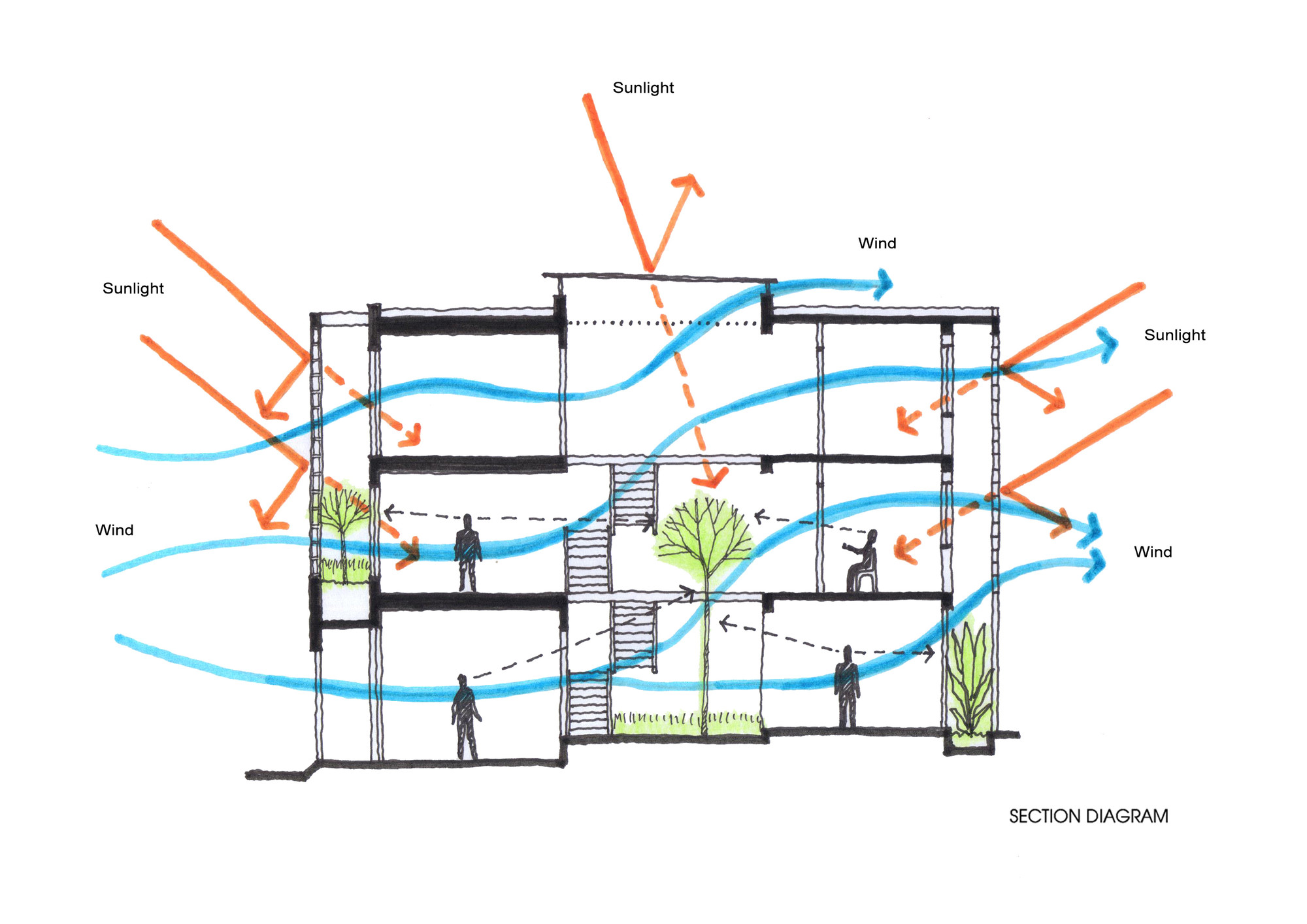 architecture section diagram possum teeth gallery of b house i and construction 27
