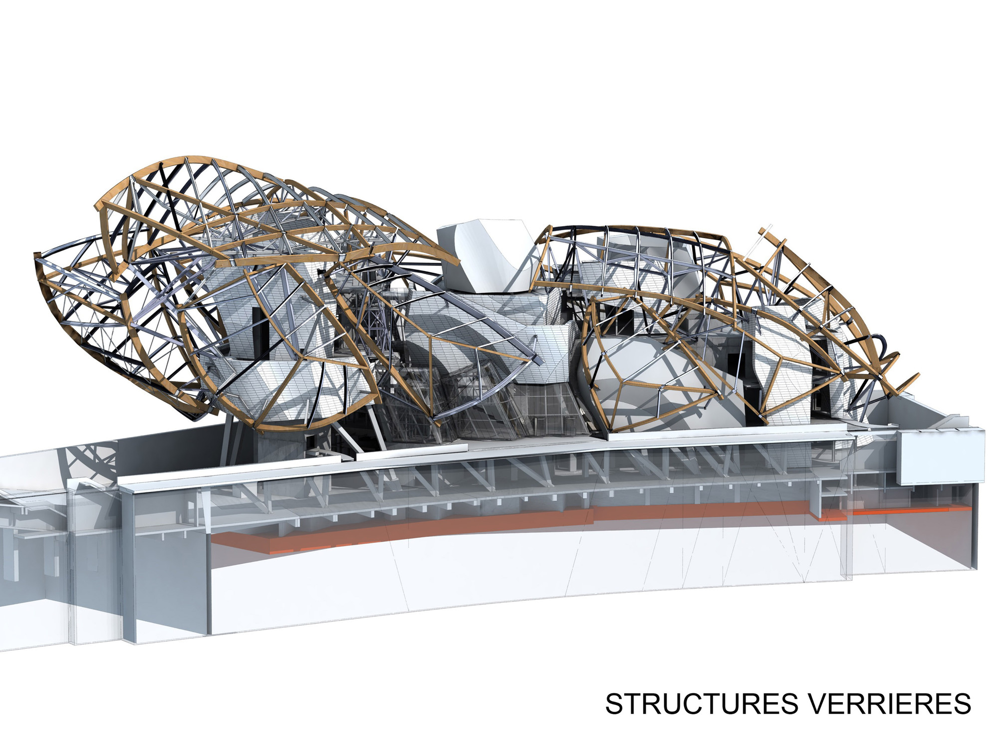 medium resolution of structure diagram fondation louis vuitton