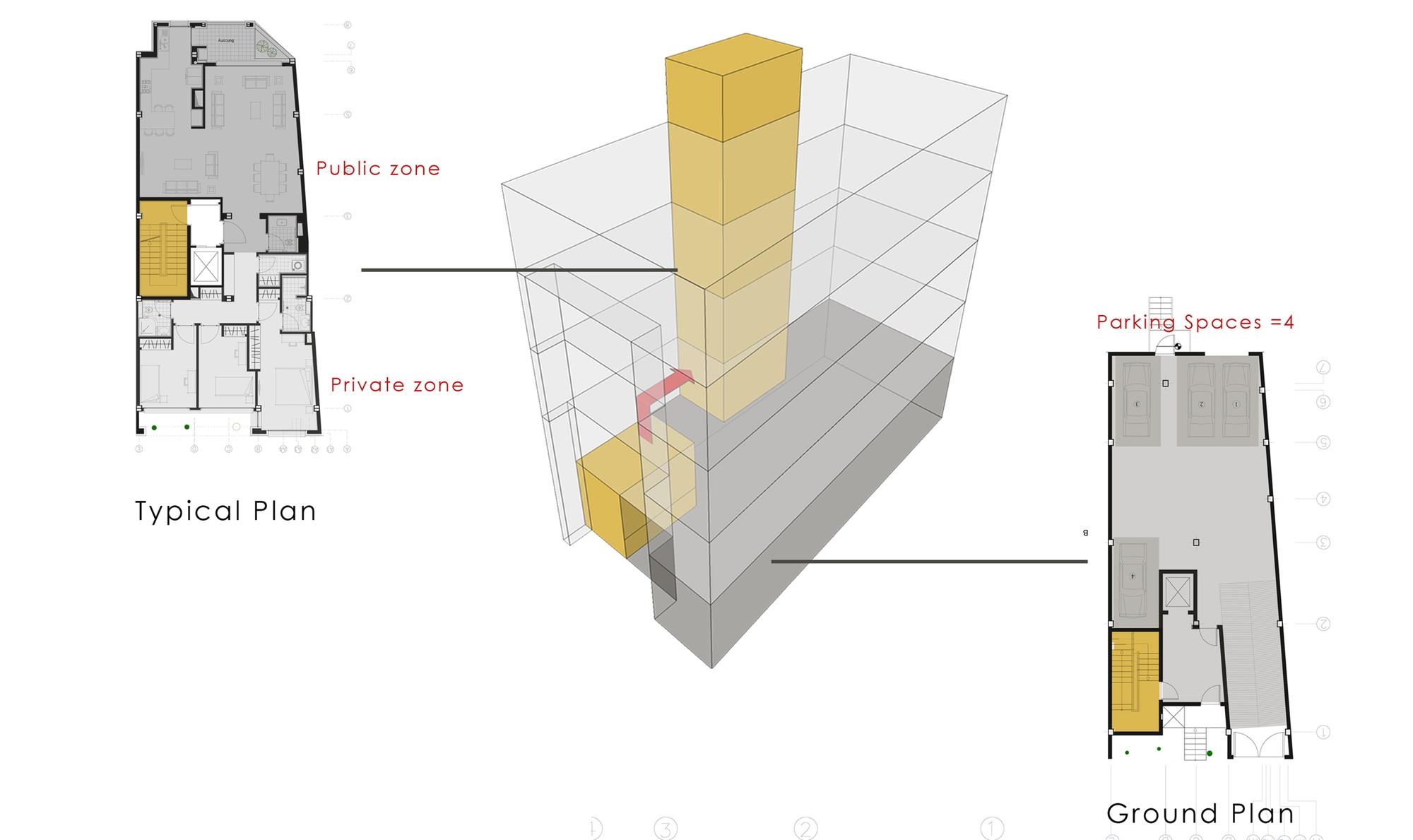 haghighi residential building diagram 7 [ 2000 x 1189 Pixel ]