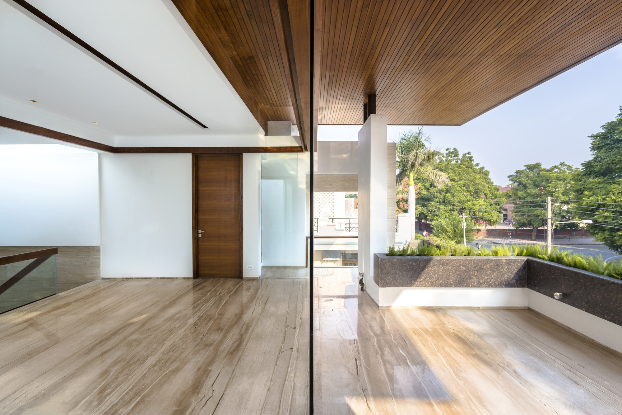 Modern Home with Wood Ceiling
