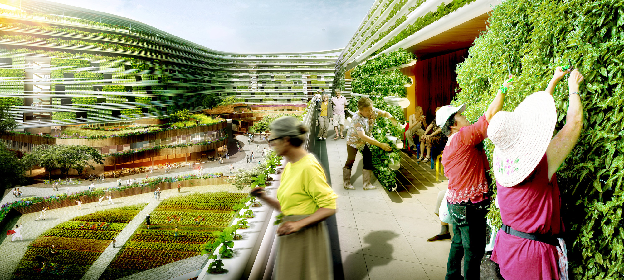 Gallery of SPARK Proposes Vertical Farming Hybrid to House Singapores Aging Population  4