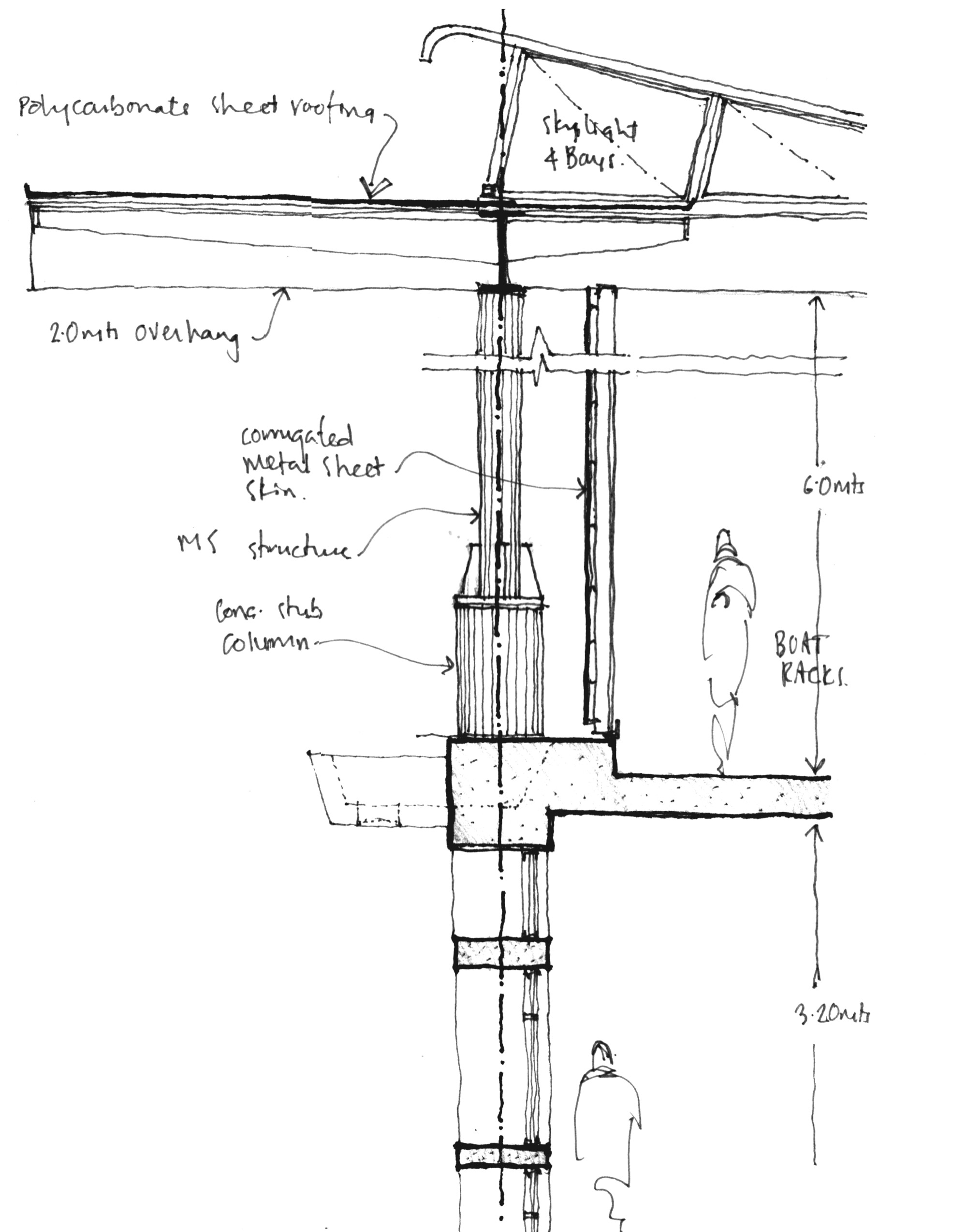hight resolution of army rowing node sketch