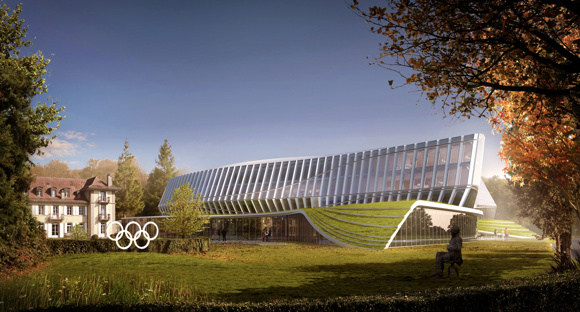 Images Released of 3XNs Olympic Headquarters in Lausanne