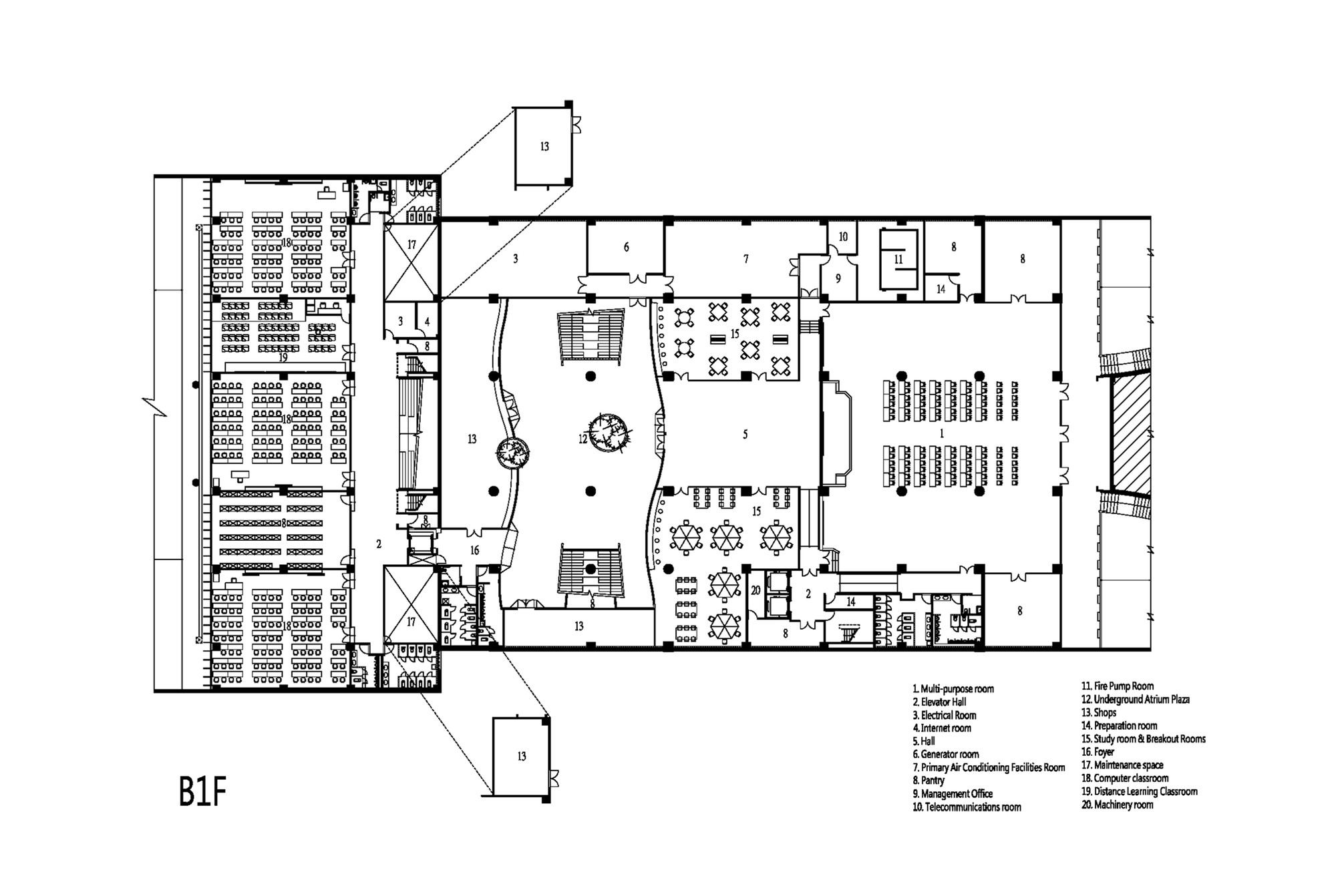hight resolution of taipei univesity library liao architect associates basement floor plan