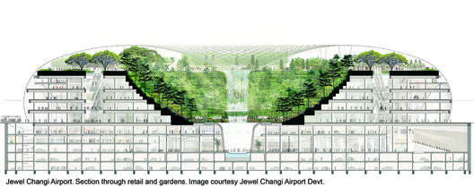 """Plan for Singapore's new """"Air Hub"""". Image Courtesy of Safdie Architects"""