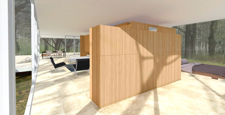 Una mirada virtual a la Casa Farnsworth de Mies van der
