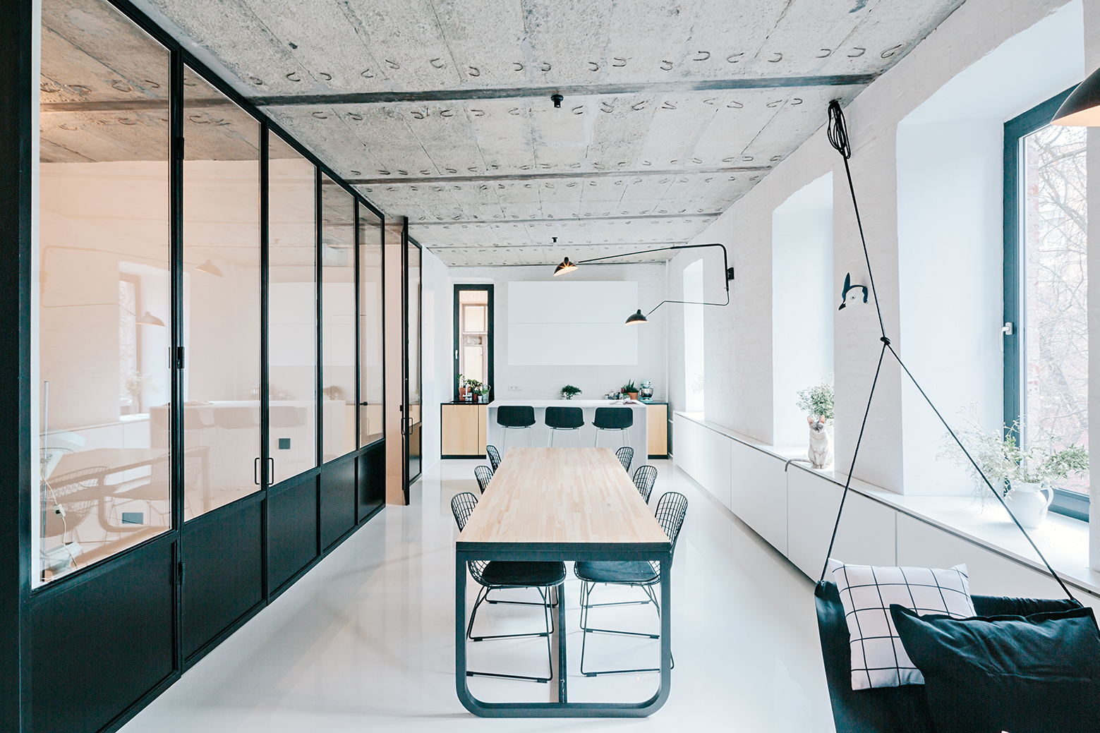 Black And White Apartment Crosby Studios ArchDaily