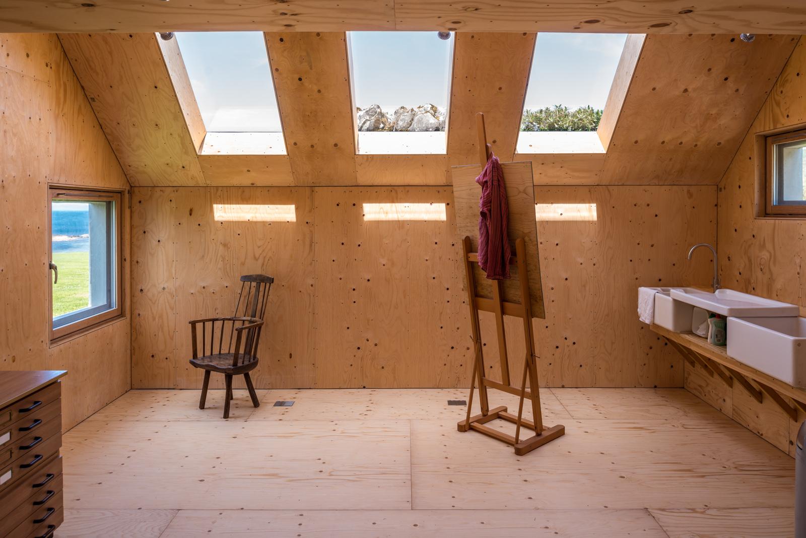 Plywood Interior Walls