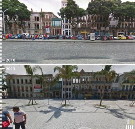 Plaza Tiradentes, Rio de Janeiro, Brasil. Cortesia de Urb-I