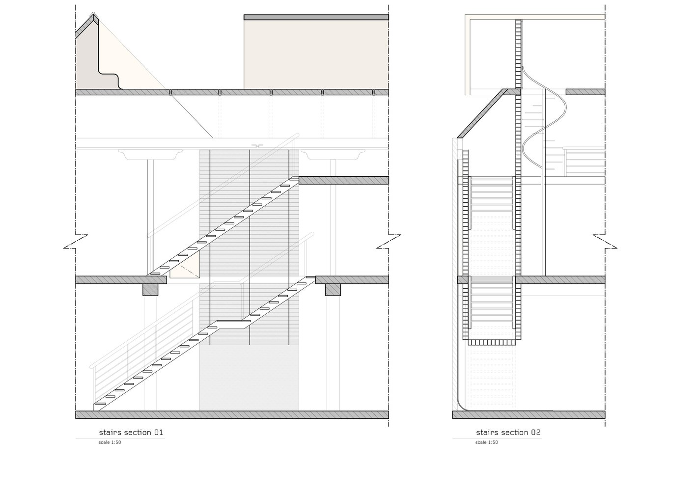hight resolution of butler house andrew maynard architects stair section