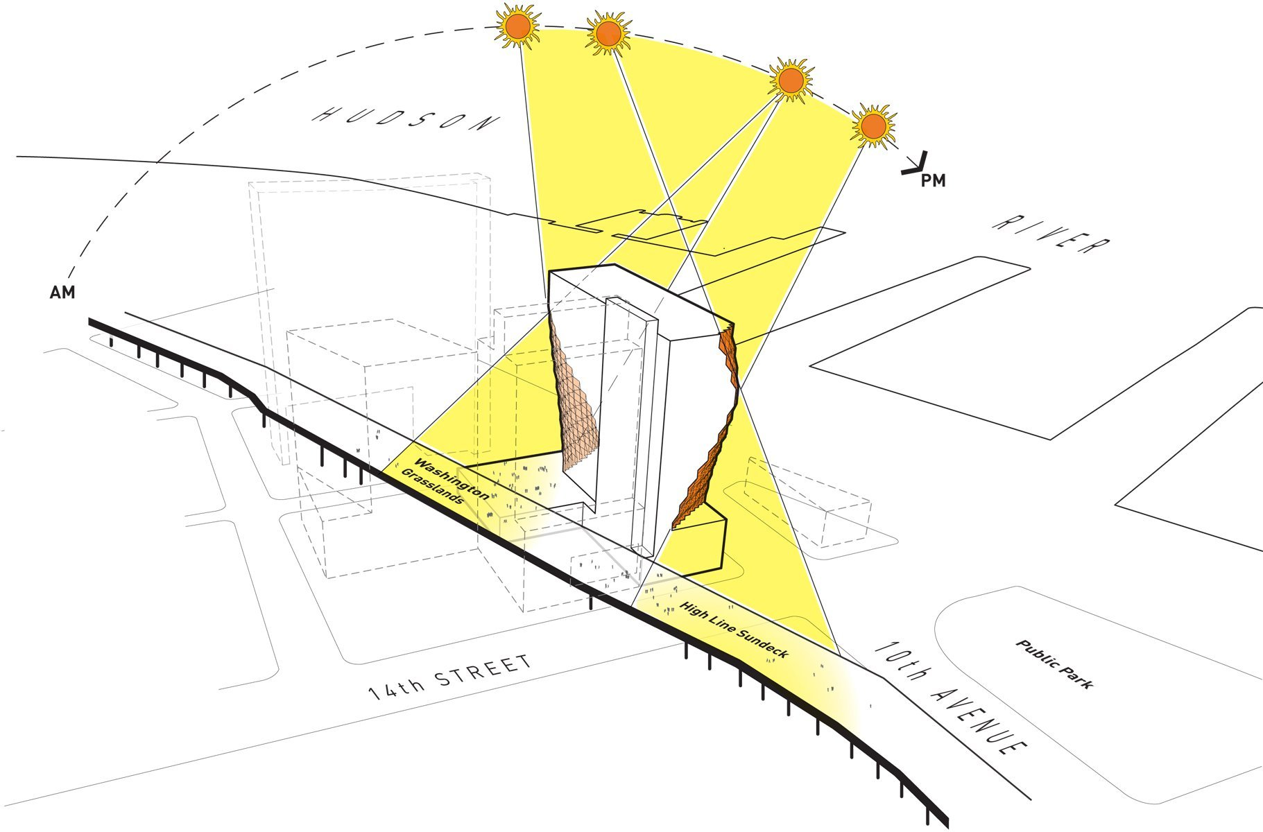 sun diagram elevation honda crx stereo wiring gallery of solar carve tower studio gang architects 6
