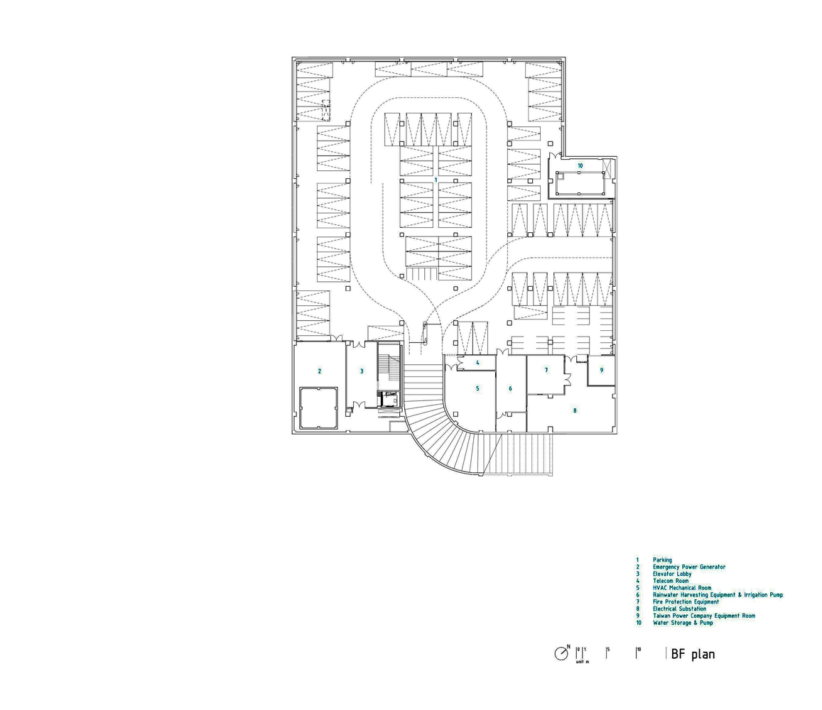 kaohsiung american school mayu architects basement floor plan [ 1157 x 1000 Pixel ]