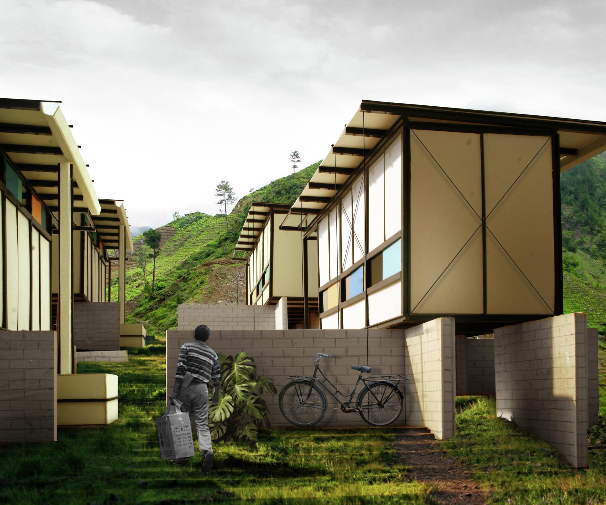 Haiti Mountains Houses