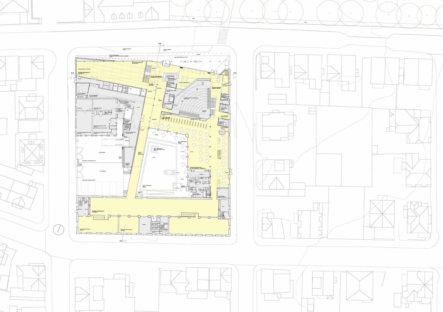 stavanger museum of archeology lund slaatto architects ground floor plan [ 1416 x 1000 Pixel ]