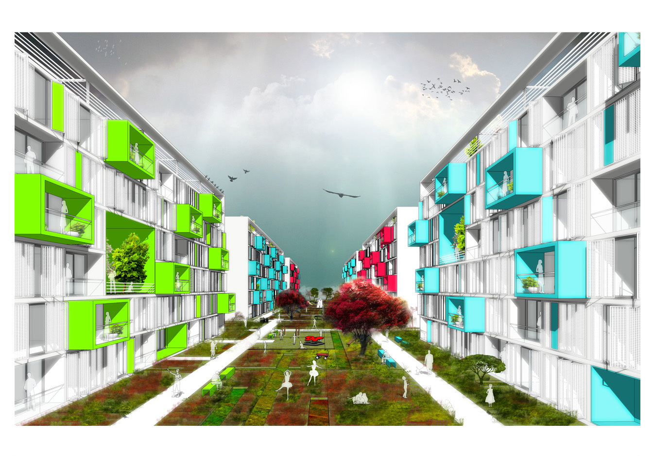 Gallery of Istanbul Kayabasi Housing Design Competition  First Prize for Aboutblank  18