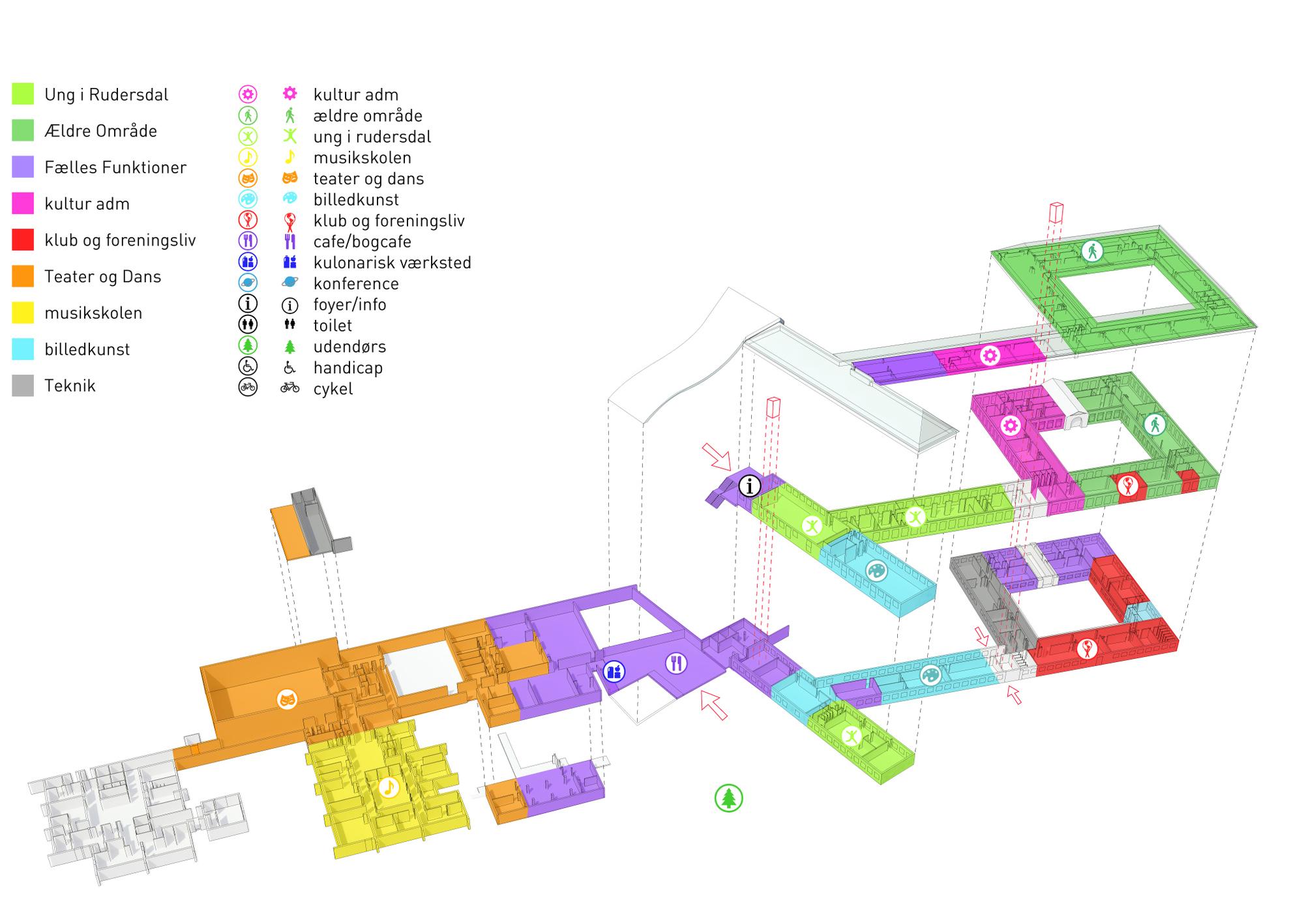 Bubble Diagram Programming Galer 237 A De Centro Cultural Marieh 248 J We Architecture