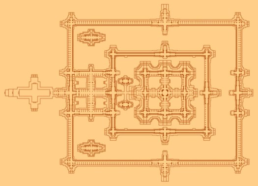 Floor Plan of Temple Precinct. Image © Wikipedia user: Baldiri, licensed under CC BY-SA 3.0