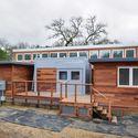 The 2013 Stanford team's Start.Home being reinstalled for a client in Jasper Ridge Biological Preserve. Image © Robert Buelteman Courtesy of Jasper Ridge Biological Preserve