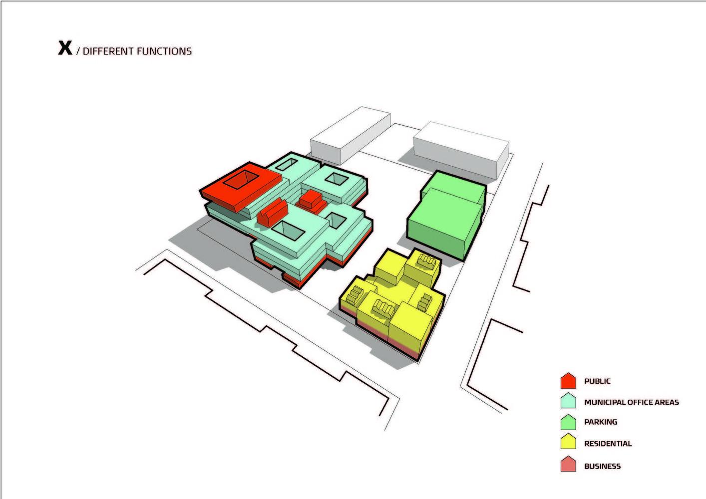 arkitema designs municipal office building for aarhus program diagram  [ 1414 x 1000 Pixel ]