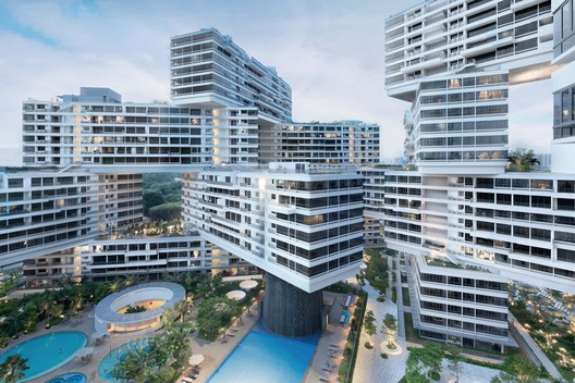 Winner in Housing Category. The Interlace / OMA/Buro Ole Sheeren in Singapore . Image Courtesy of WAF.