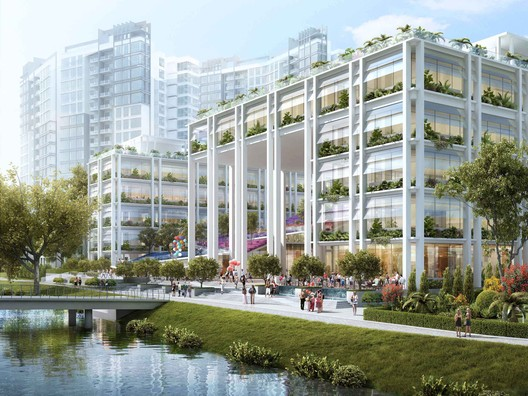 Winner in Commercial Mixed-use Category.Gardens at Punggol / Serie + Multiply Consultants in Singapore.