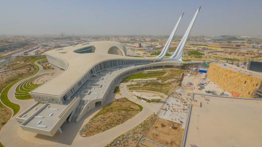 Winner in Religion Category. Qatar Faculty of Islamic Studies / Mangera Yvars Architects in Qatar. Image Courtesy of WAF.