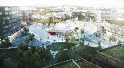 Urban Design of the Year: Vinge Train Station / Henning Larsen Architects and Tredje Natur. Image Courtesy of LEAF International