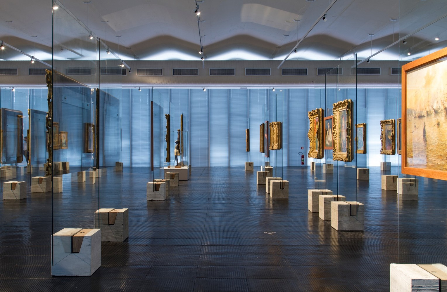 medium resolution of concrete and glass lina bo bardi s easels and a new old way of displaying art