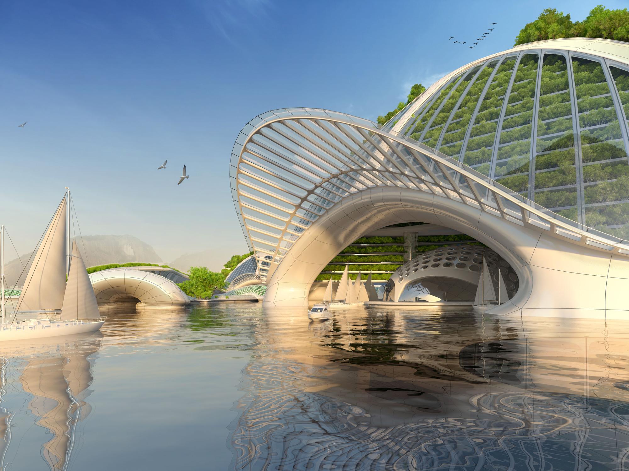 Underwater Futuristic Architecture