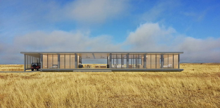 Desert Art House Rendered View. Image Courtesy of Revolution PreCraft
