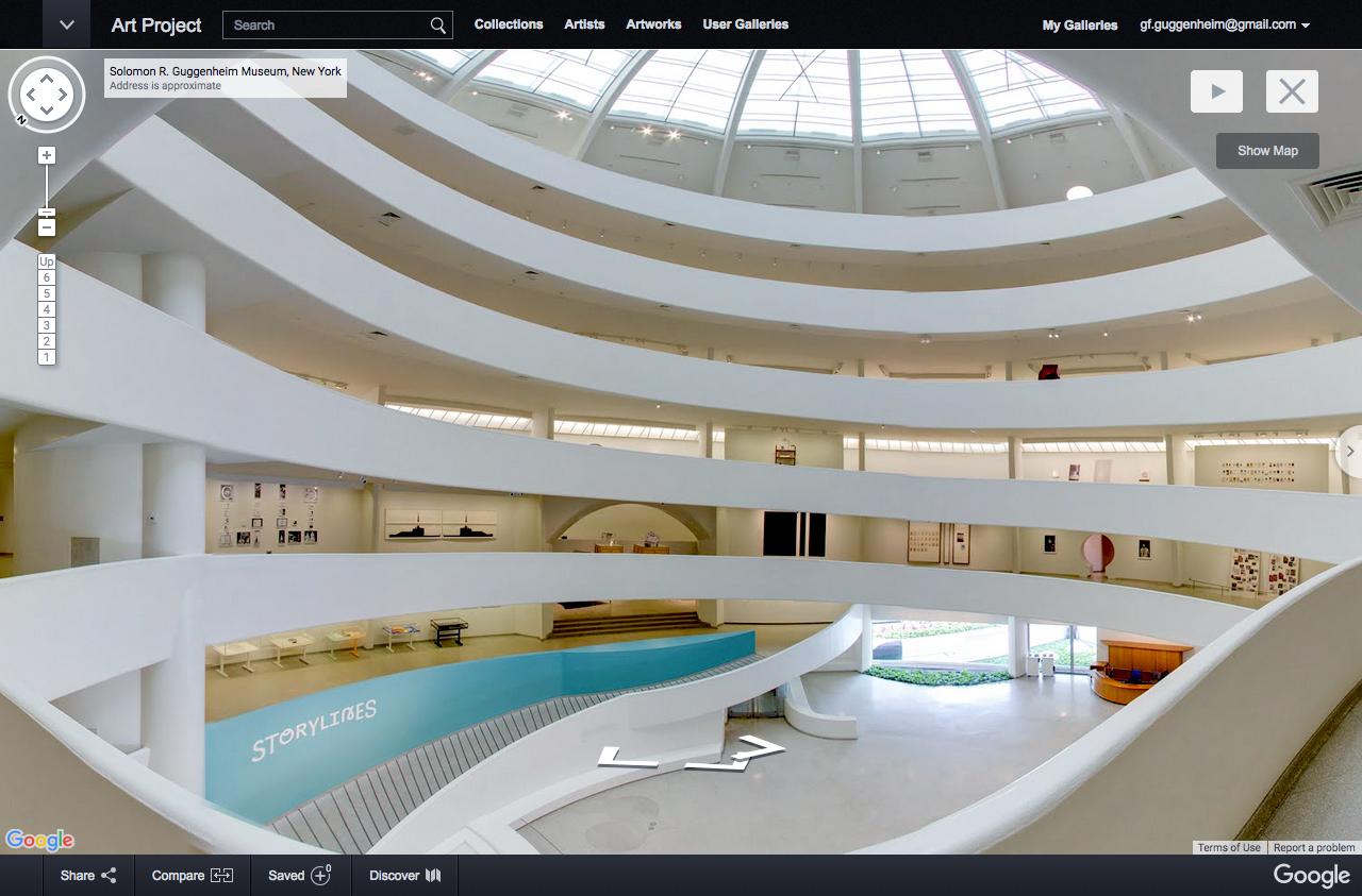 Walk Google Cultural Institute Puts York' Guggenheim Map Archdaily