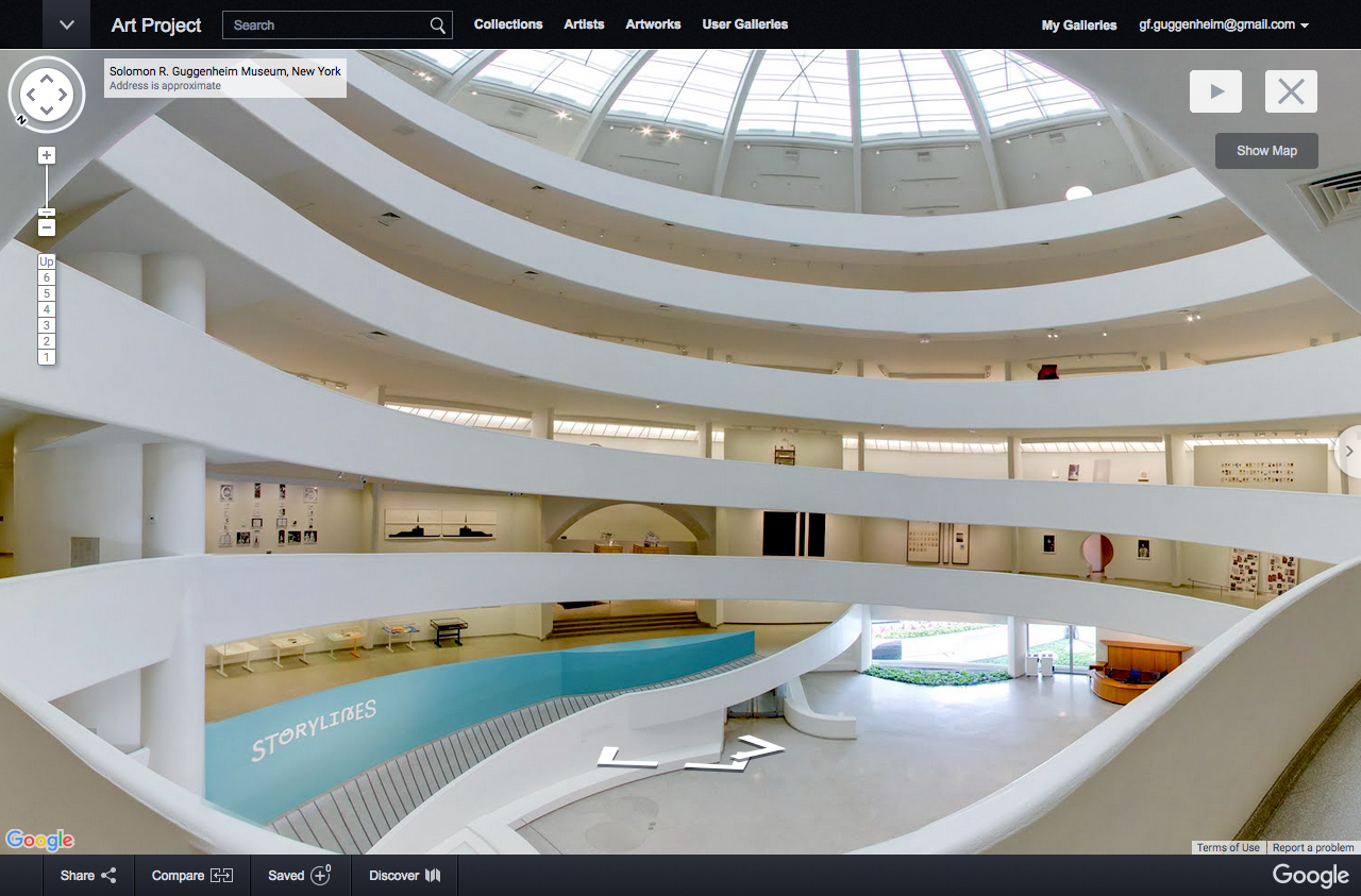 Inside Guggenheim Museum New York
