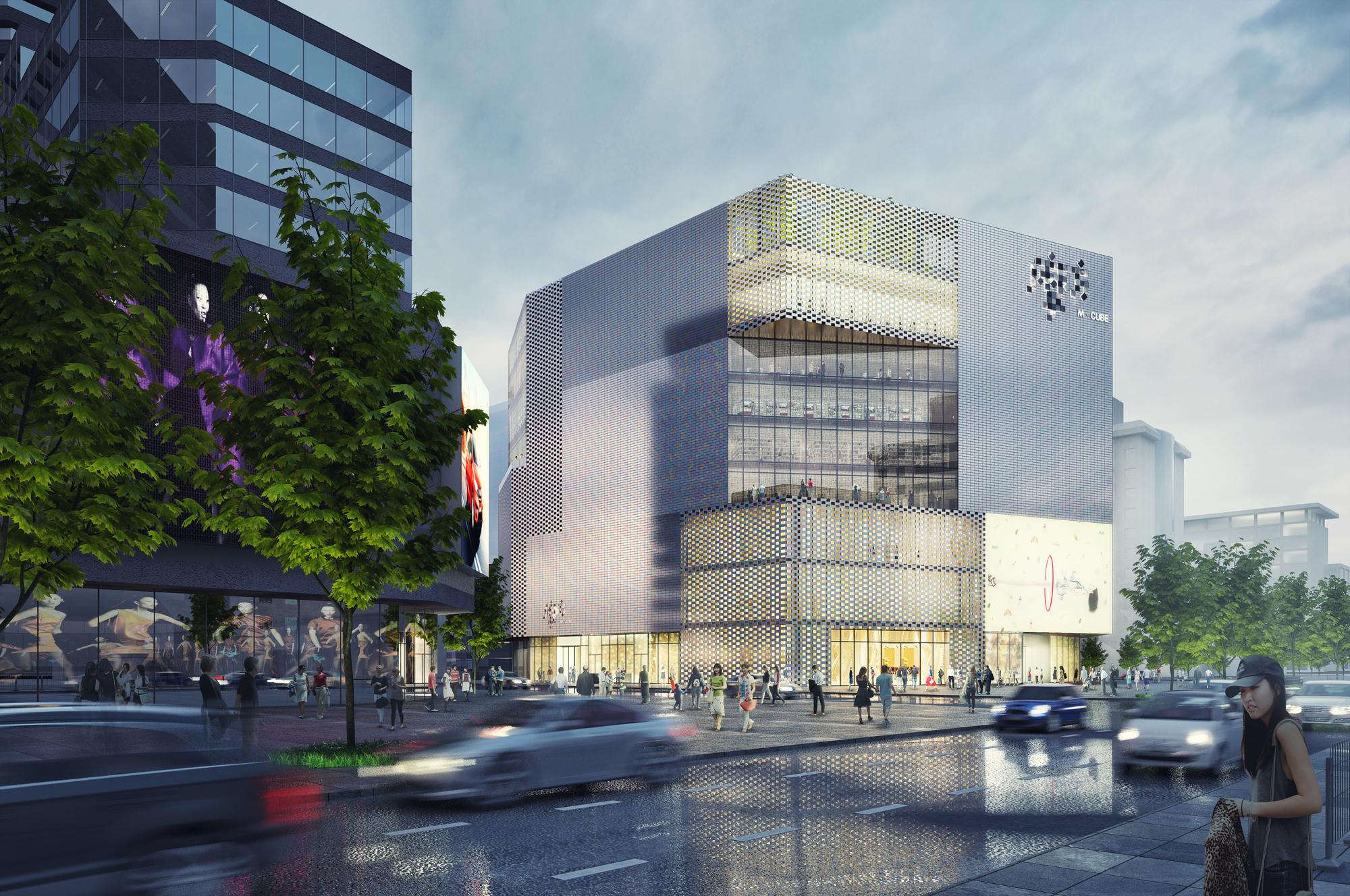 Mvrdv Design Shopping Center With Pearlescent