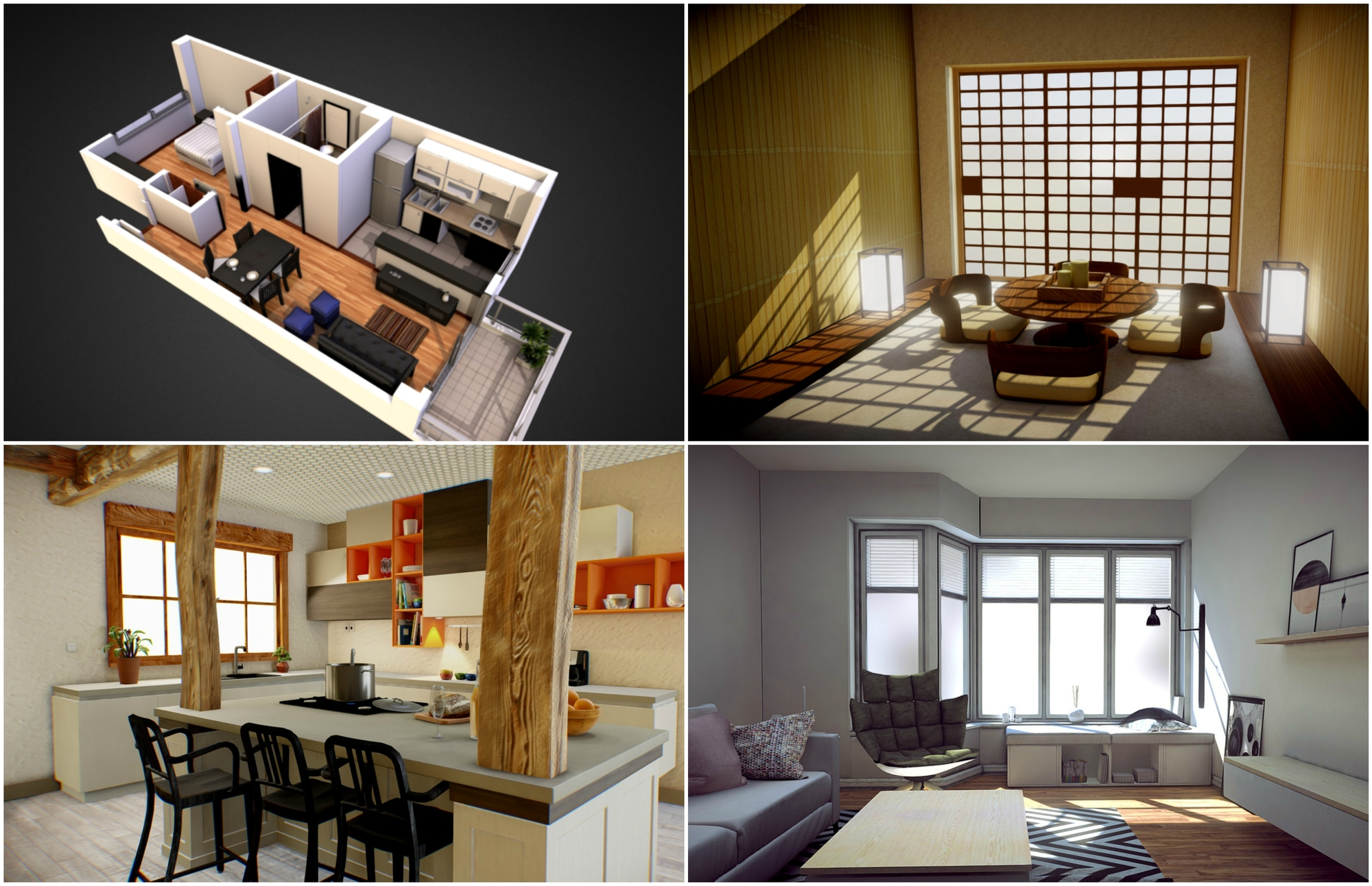 7 Examples Of Show Interiors In 3d Models