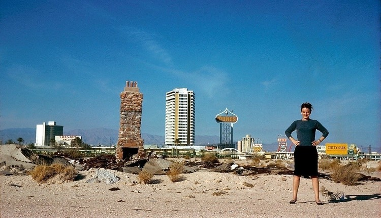 Denise Scott Brown in Las Vegas in 1966. Image © Robert Venturi