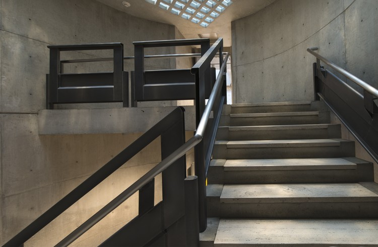 Yale Center for British Art, circular stairs following conservation. Image © Richard Caspole