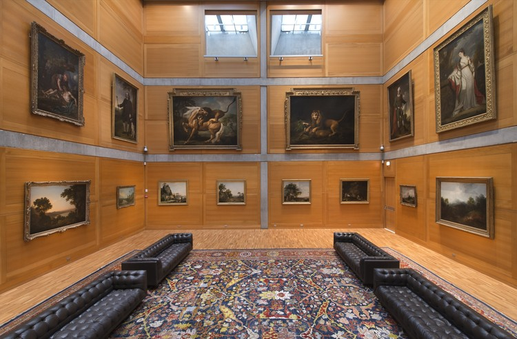 Yale Center for British Art, Library Court following reinstallation. Image © Richard Caspole