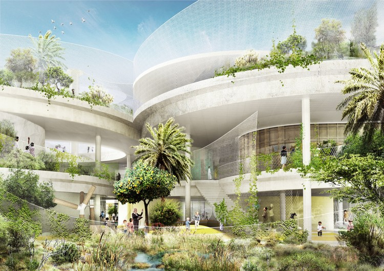 CEBRA Design School for The Sustainable City in Dubai, Courtesy of CEBRA (Architecture) & SLA (Landscape)