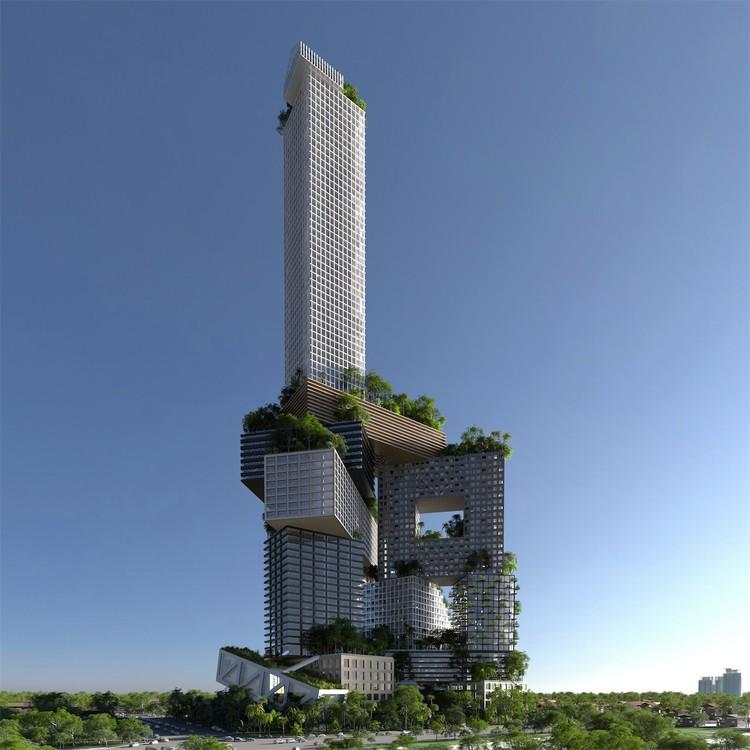 Peruri 88, proposta de uma torre de 400 metros de altura do MVRDV para Jacarta. Cortesia de RSI-Studio